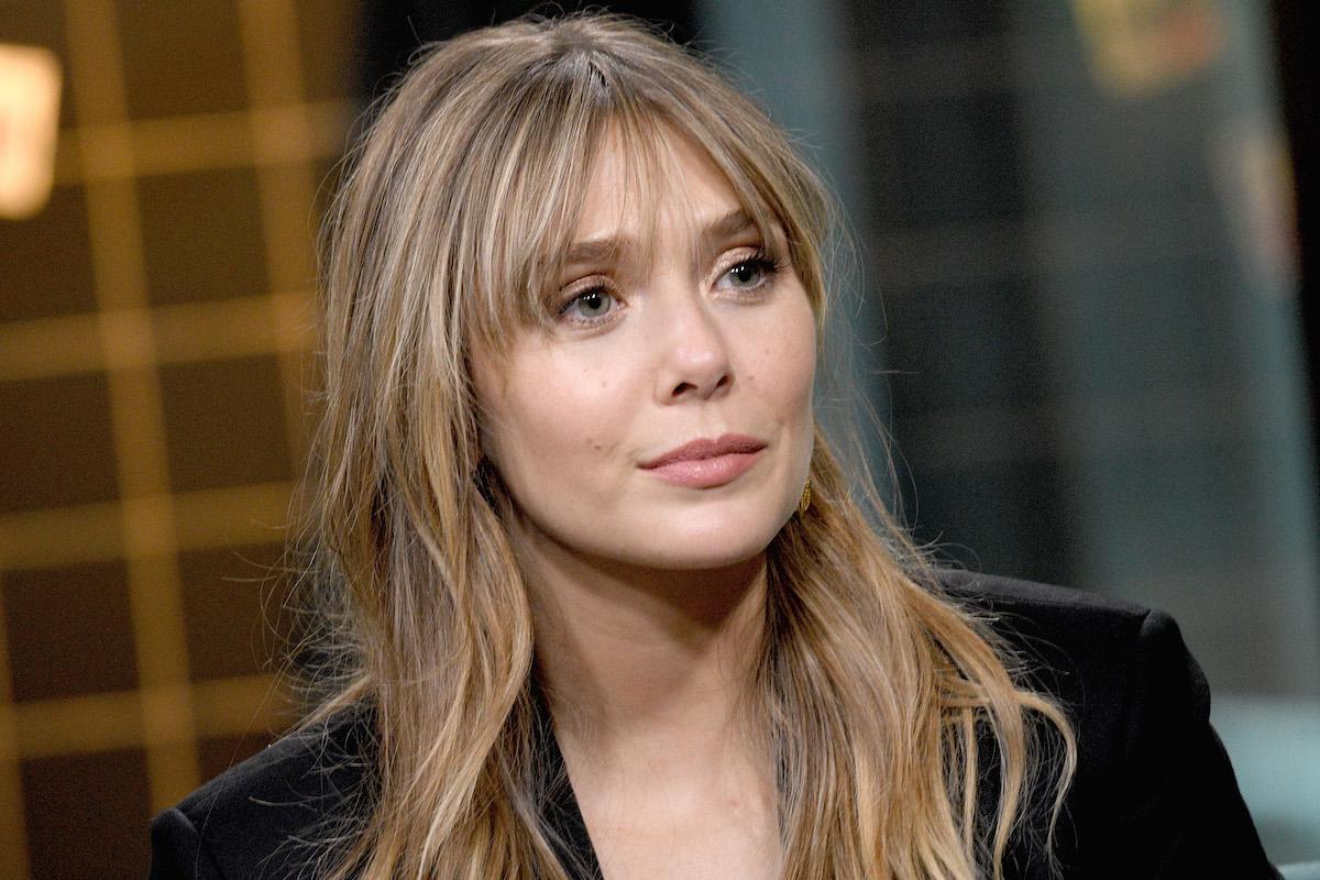 Elizabeth Olsen in black blazer