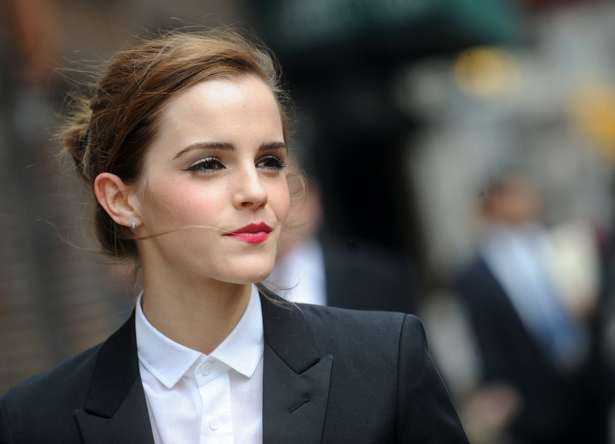 Emma Watson walks through the streets of New York