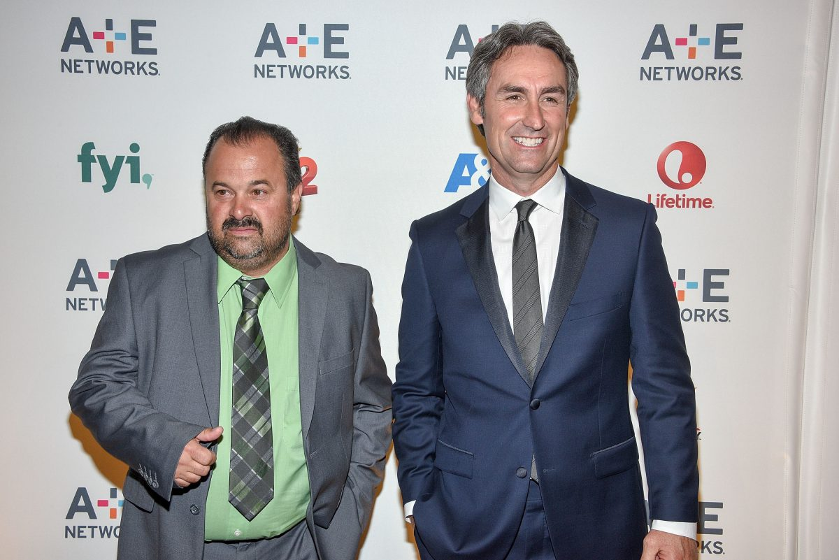 Frank Fritz and Mike Wolfe of 'American Pickers' at an event in 2015