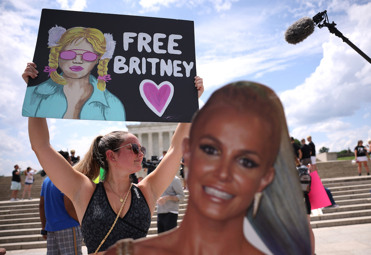 Britney Spears cutout at rally
