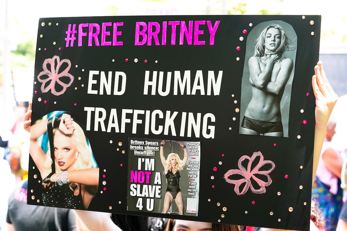 FreeBritney rally poster