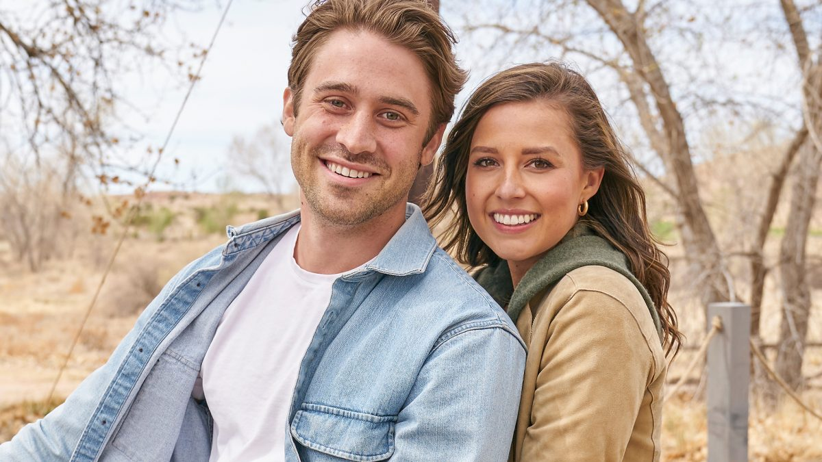 Greg Grippo and Katie Thurston pose together on a bike on their Hometown Date in 'The Bachelorette' Season 17 Week 9