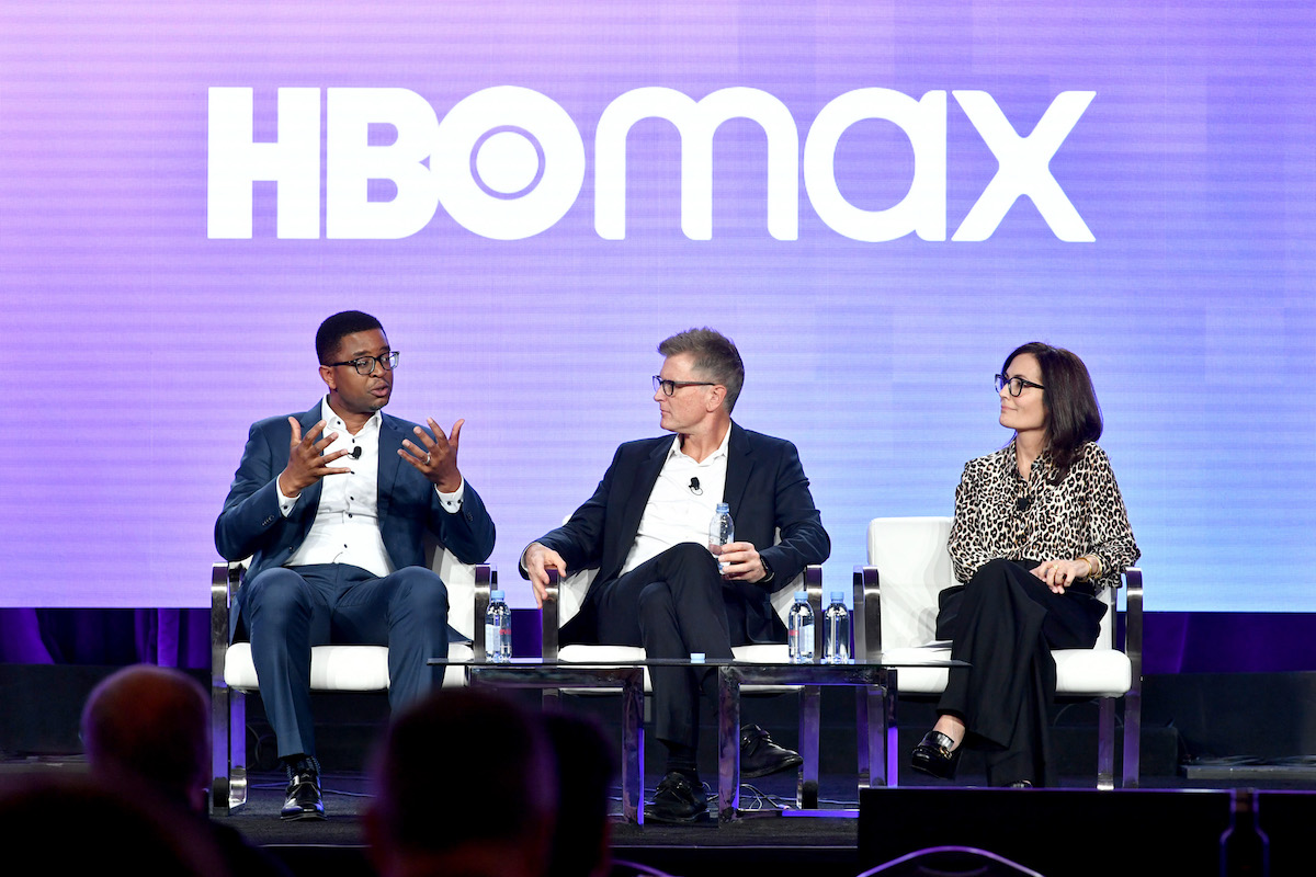 HBO Max executives on stage
