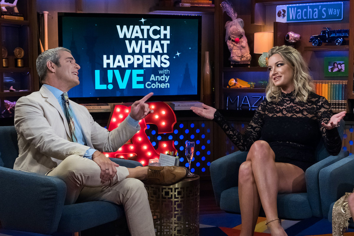 Hannah Ferrier from Below Deck Mediterranean visits Andy Cohen on WWHL