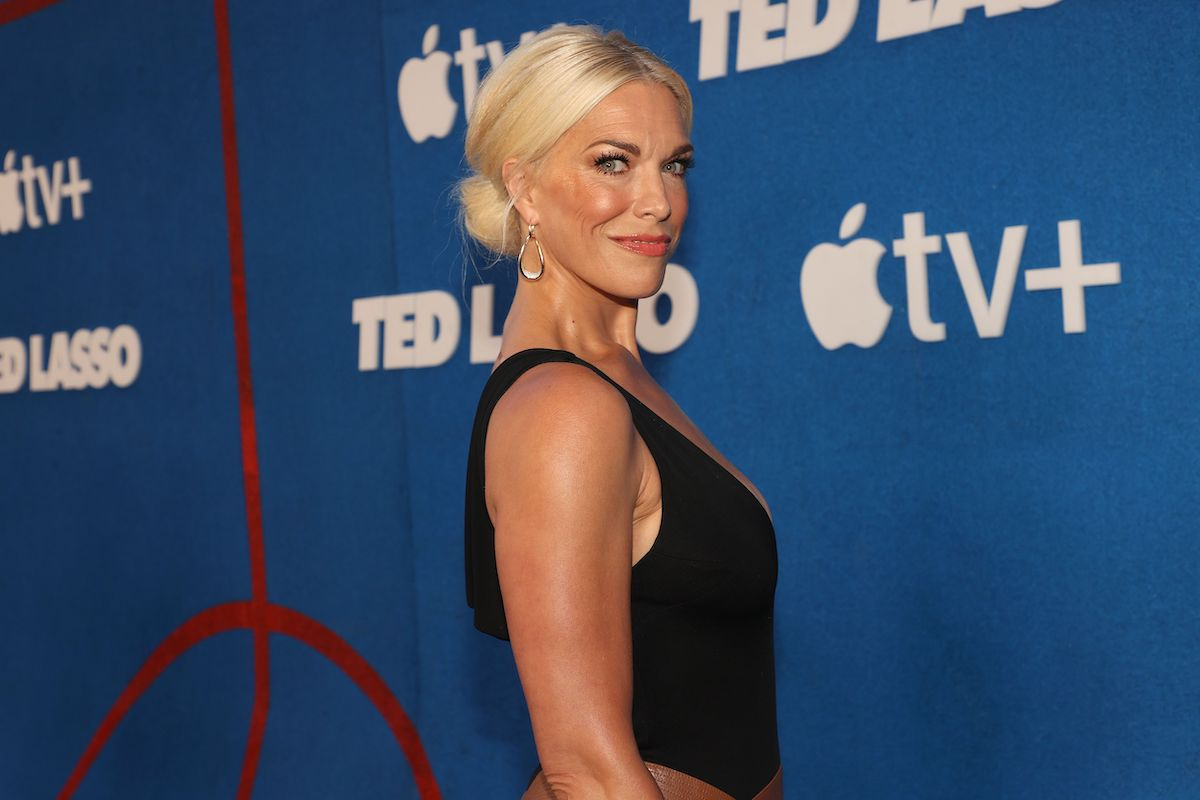 """WEST HOLLYWOOD, CALIFORNIA - JULY 15: Hannah Waddingham attends Apple's """"Ted Lasso"""" season two premiere at Pacific Design Center on July 15, 2021 in West Hollywood, California."""