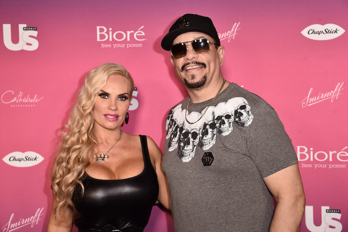 Ice-T and Coco in front of pink background