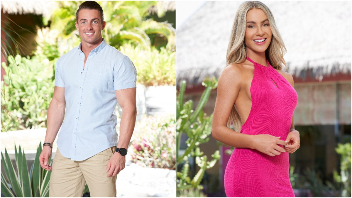 Headshots of James Bonsall and Victoria Paul from the 'Bachelor in Paradise' Season 7 cast in 2021