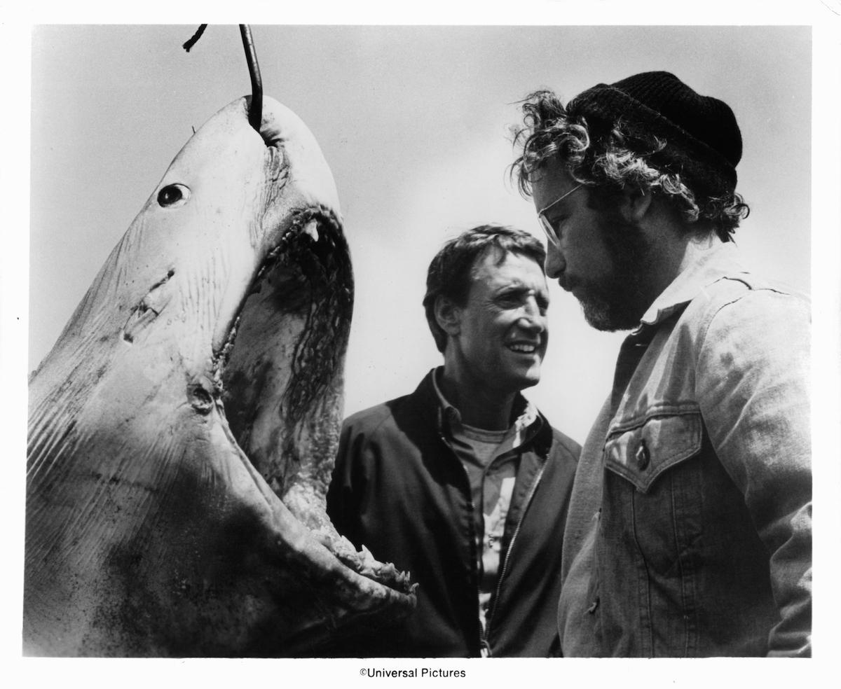 'Jaws' stars Roy Scheider and Richard Dreyfuss on the set
