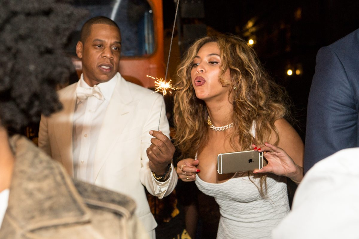 Jay-Z and Beyoncé attending Solange Knowles wedding in 2014