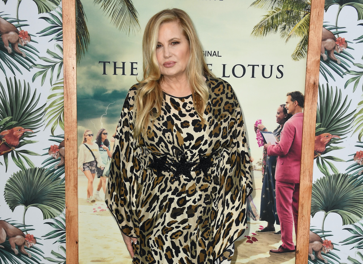 """Jennifer Coolidge arrives at the Los Angeles Premiere Of New HBO Limited Series """"The White Lotus"""" at Bel-Air Bay Club on July 07, 2021 in Pacific Palisades, California."""