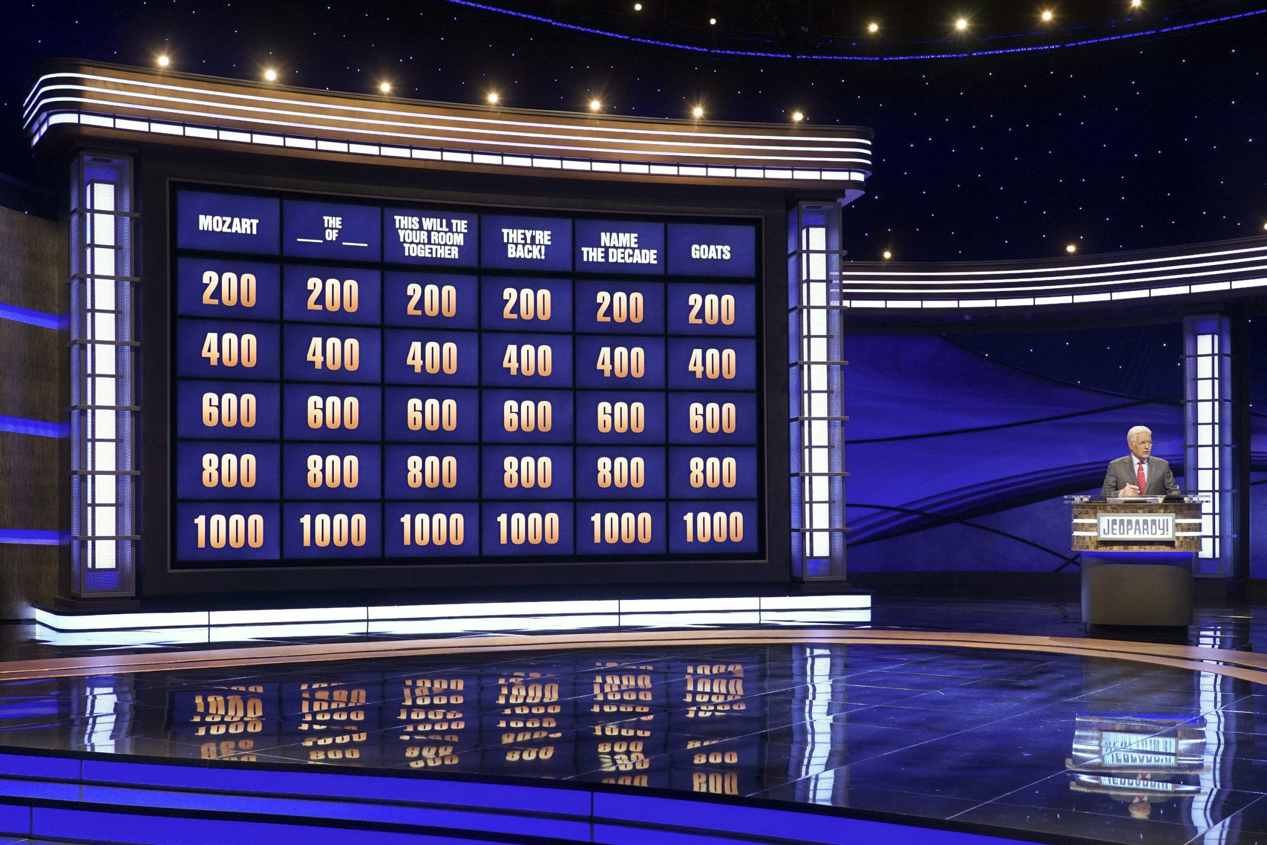 The game board of ABC's 'Jeopardy!'