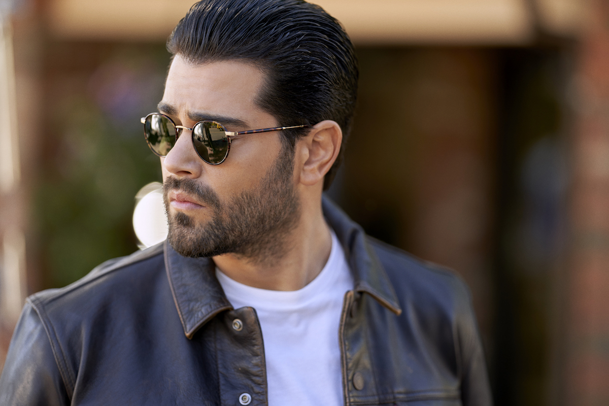 Jesse Metcalfe wearing sunglasses and a leather jacket in 'Chesapeake Shores'