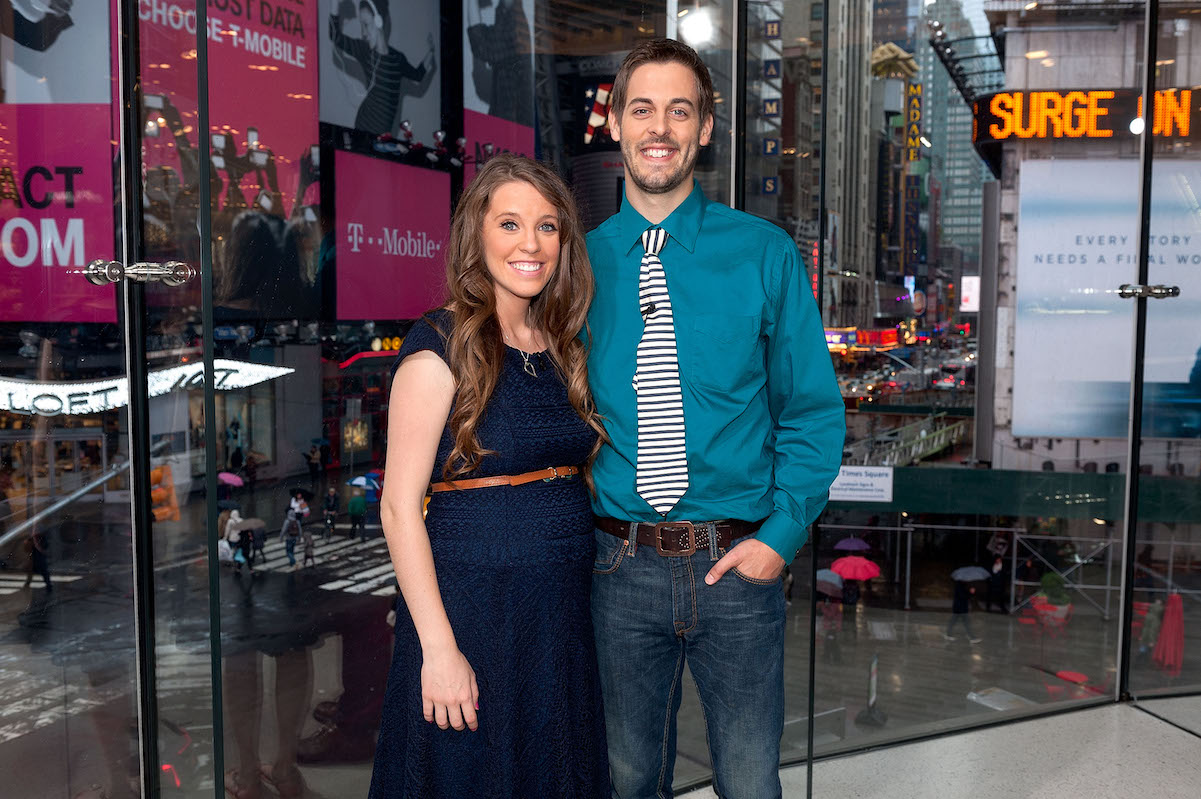 Jill and Derick Dillard pose in New York City in 2014
