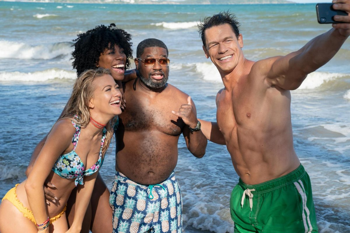 John Cena takes a selfie with Lil Rel Howery, Yvonne Orji and Meredith Hagner