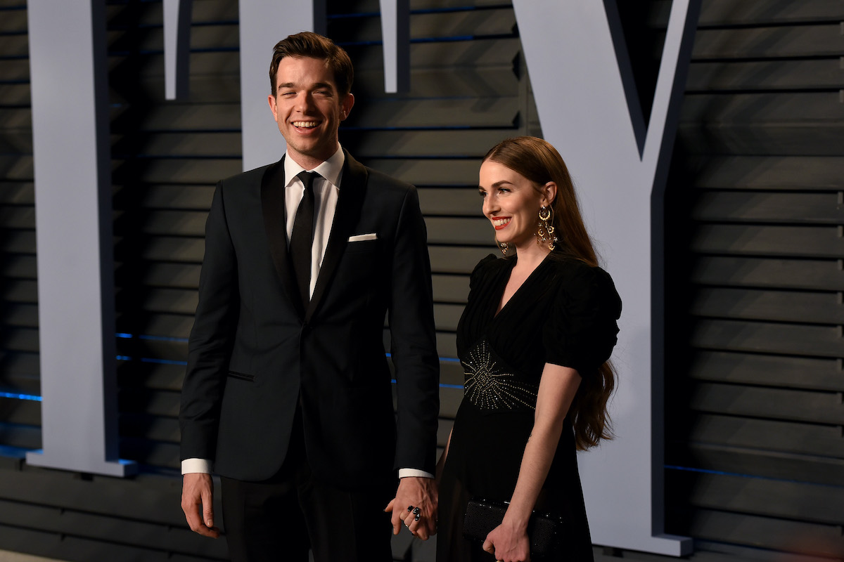 John Mulaney and Anna Marie Tendler at the 2018 Vanity Fair Oscar Party