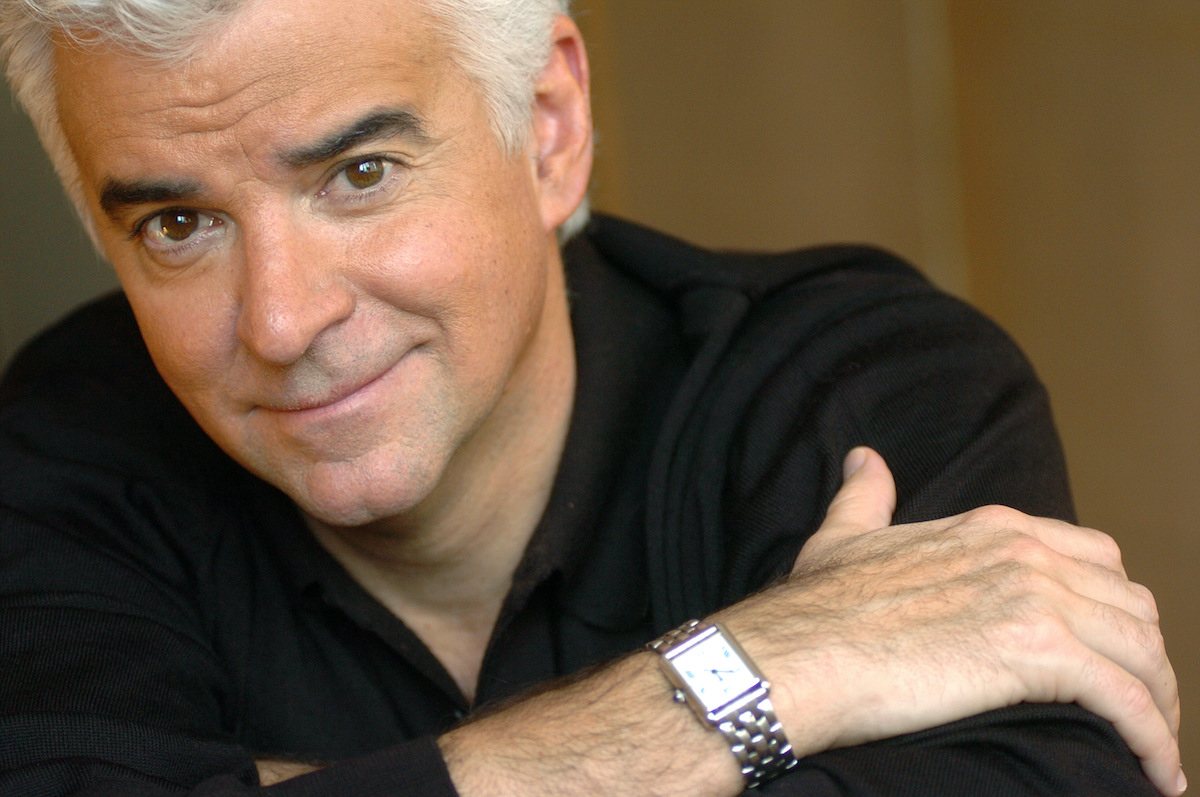 John O'Hurley from Seinfeld relaxes at the Phillips Club on W. 66th