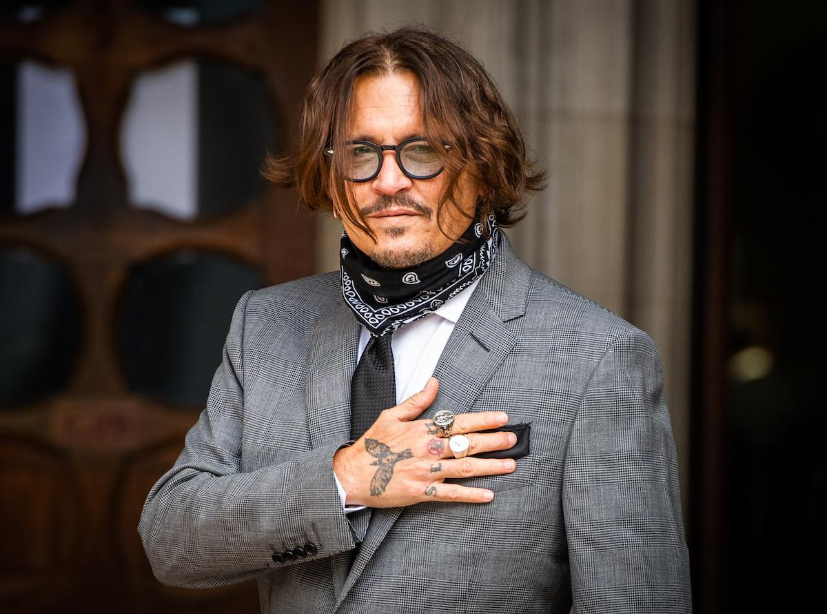 Johnny Depp in suit