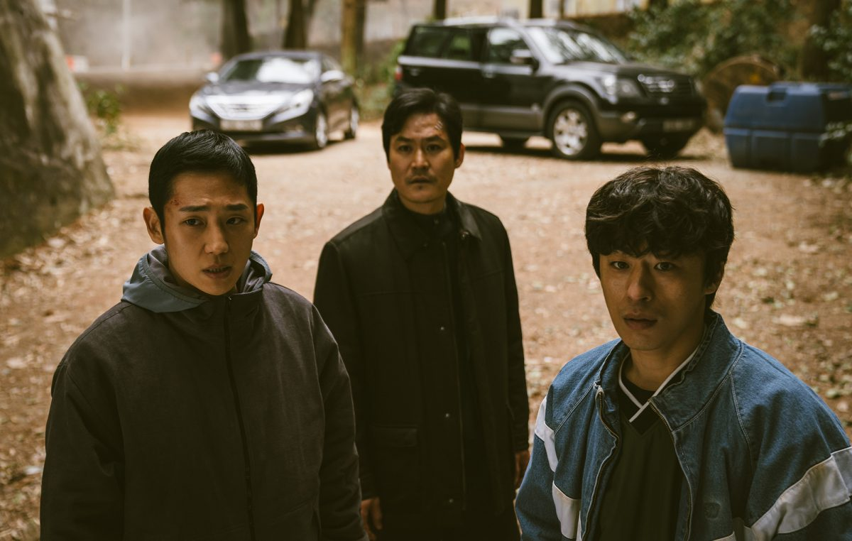 Jung Hae-In, Son Seok-Soo and Koo Kyo-Hwan 'D.P.' in civilian clothing as their characters