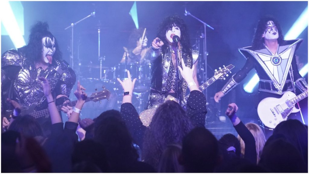 KISS performs in concert.