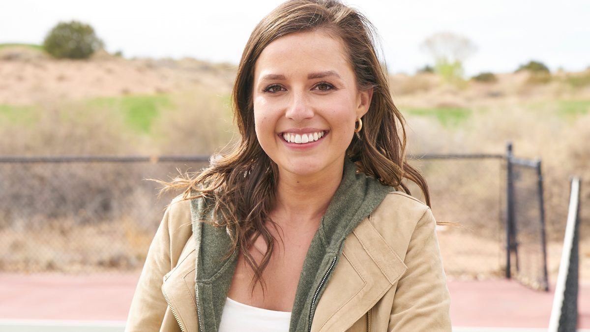 Headshot of Katie Thurston on a Hometown date with Greg Grippo in 'The Bachelorette' Season 17 Week 9