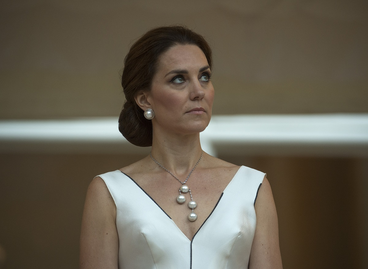 Kate Middleton listening to Prince William's speech in Poland