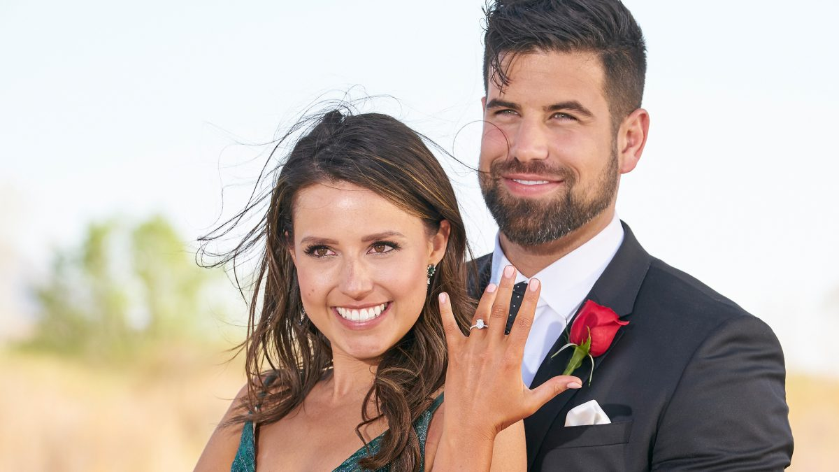 Katie Thurston and Blake Moynes show off the engagement ring in 'The Bachelorette' Season 17 finale