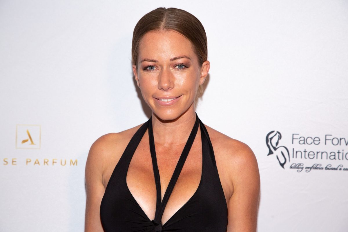 Playboy model Kendra Wilkinson smiles on the Face Forward red carpet