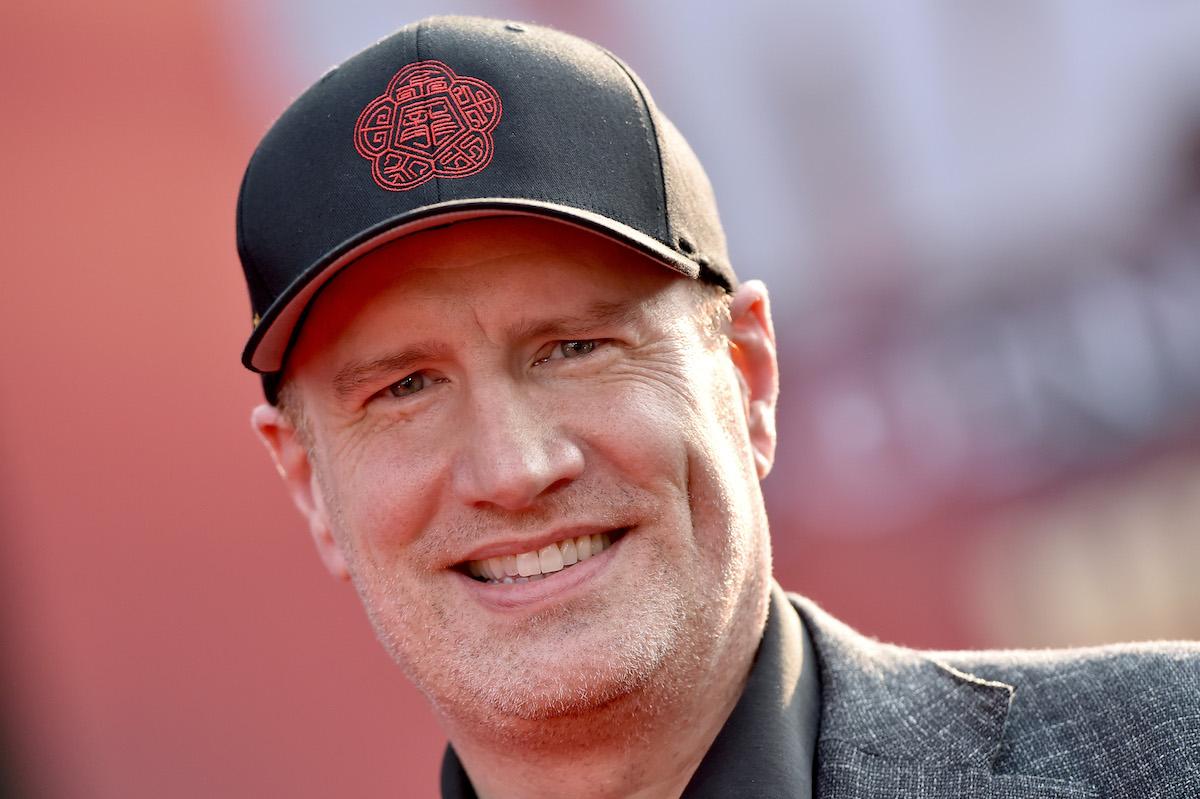 Kevin Feige wearing a baseball cap.