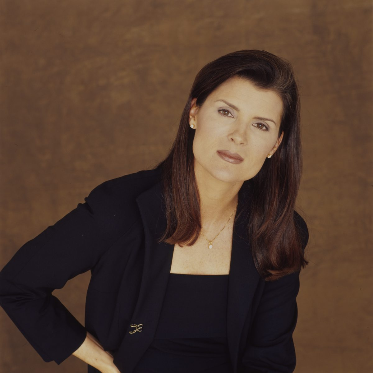 Soap opera actress Kimberlin Brown in a promotional photoshoot for 'All My Children.'