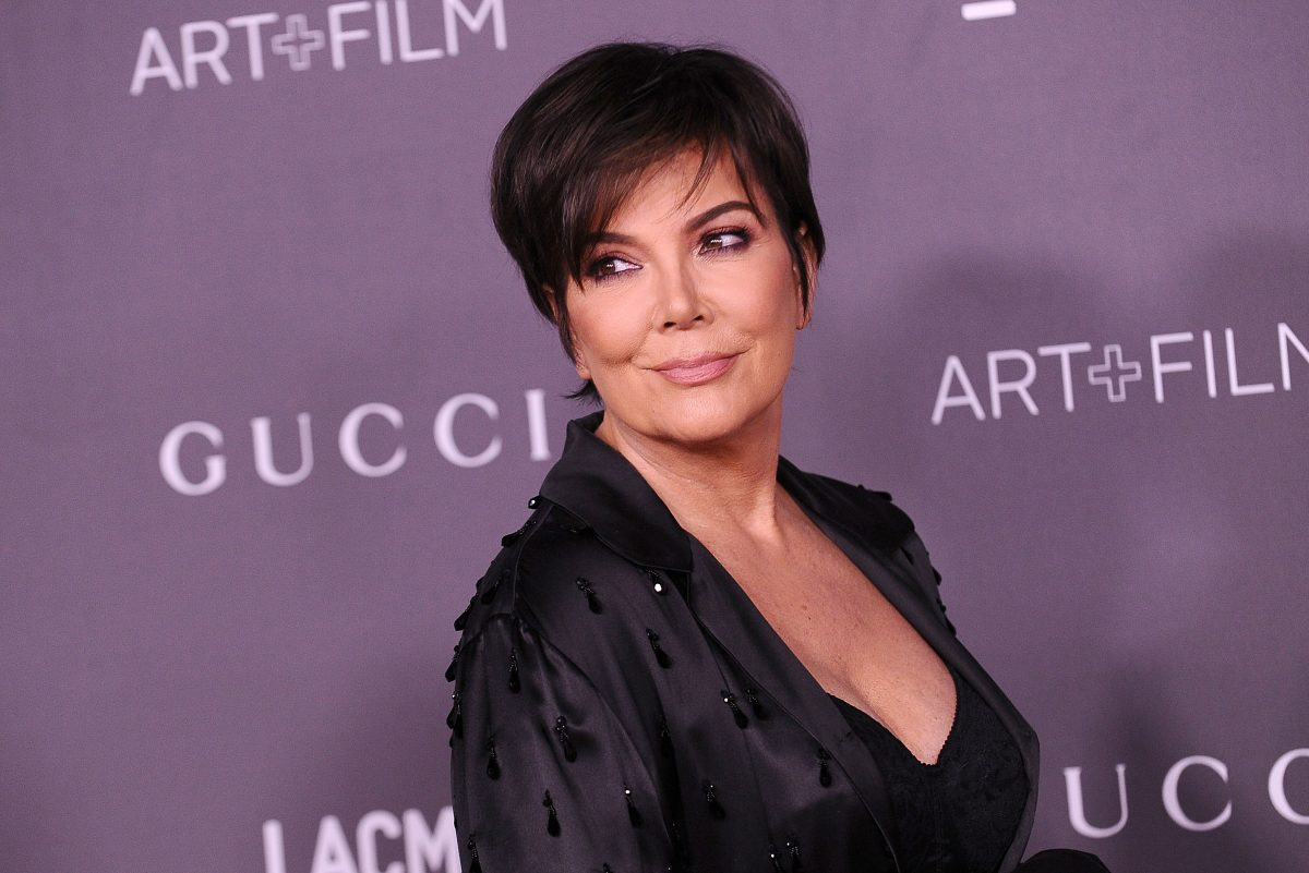 Kris Jenner poses for a photo on the red carpet at the LACMA Art + Film gala