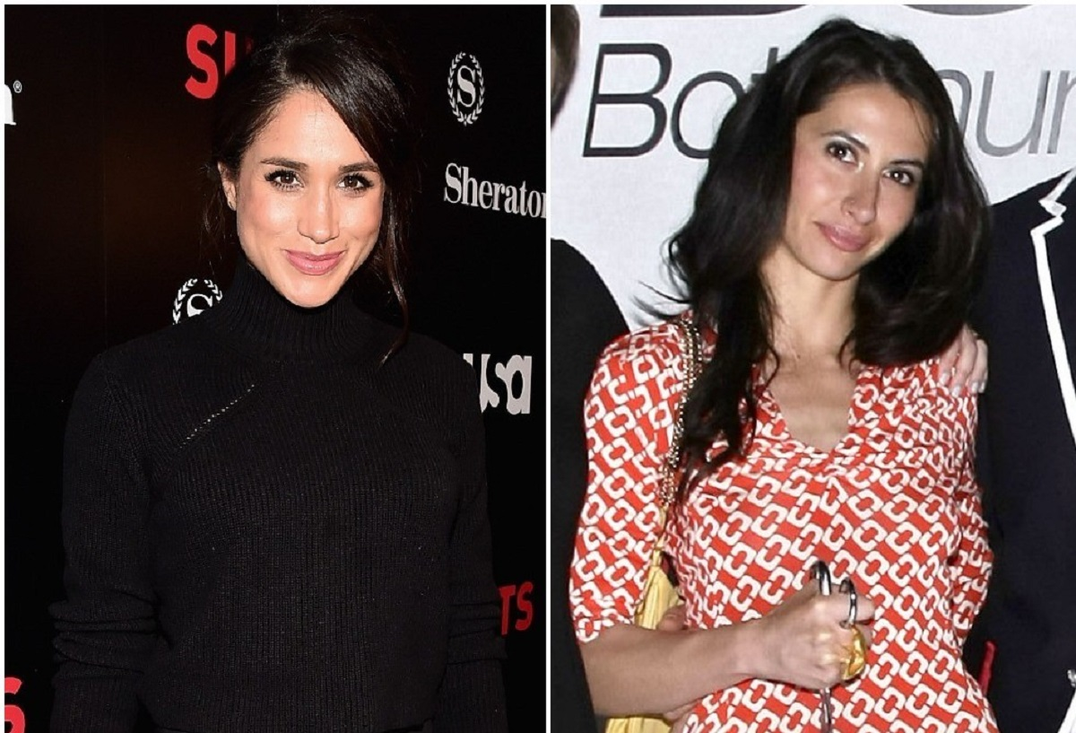 L) Meghan Markle attends the premiere of USA Network's Suits Season 5, (R) Ninaki Priddy at the Gen Art's Styles International Design Competition