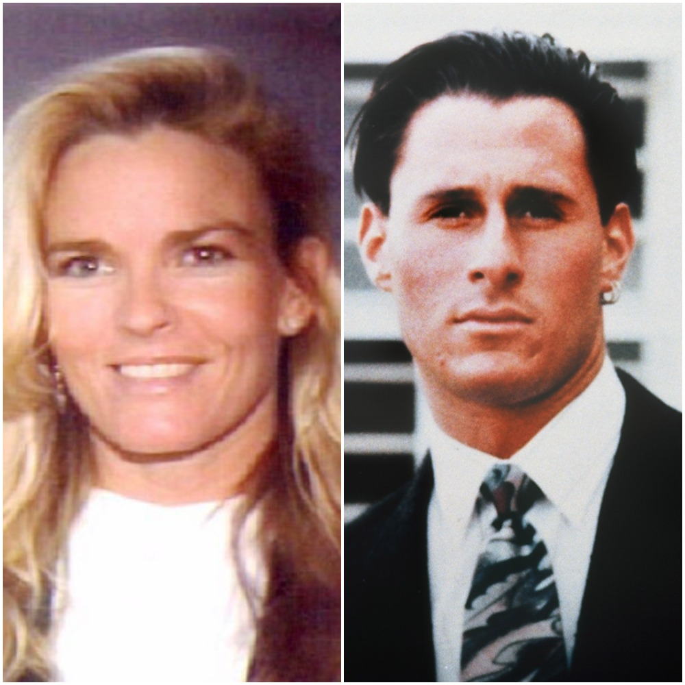 (L): Nicole Brown Simpson's driver's license photo, (R): Family photo of the late Ron Goldman