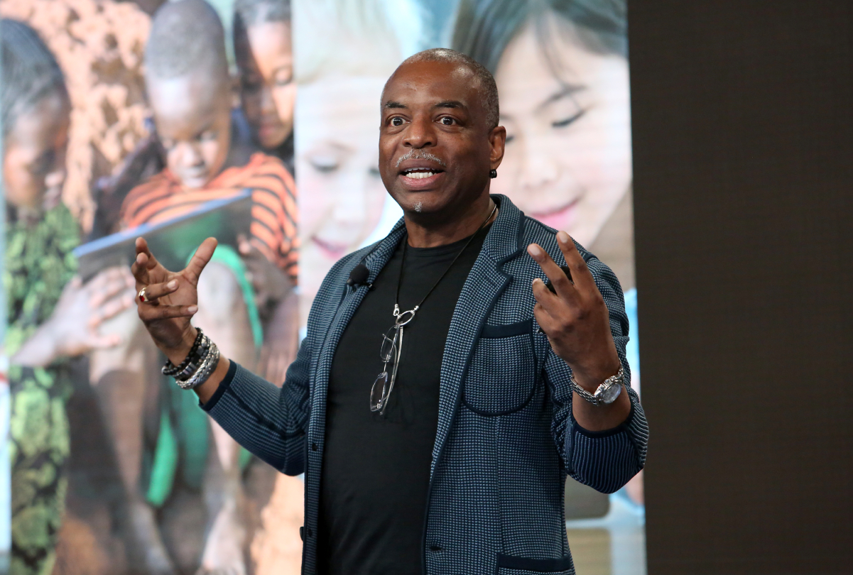 Actor and television personality LeVar Burton