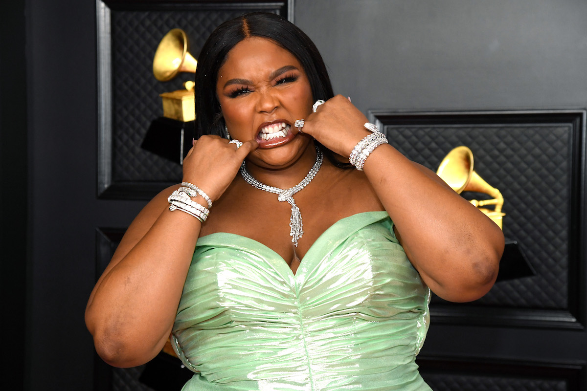 Lizzo attends the 63rd Annual GRAMMY Awards at Los Angeles Convention Center on March 14, 2021 in Los Angeles, California.