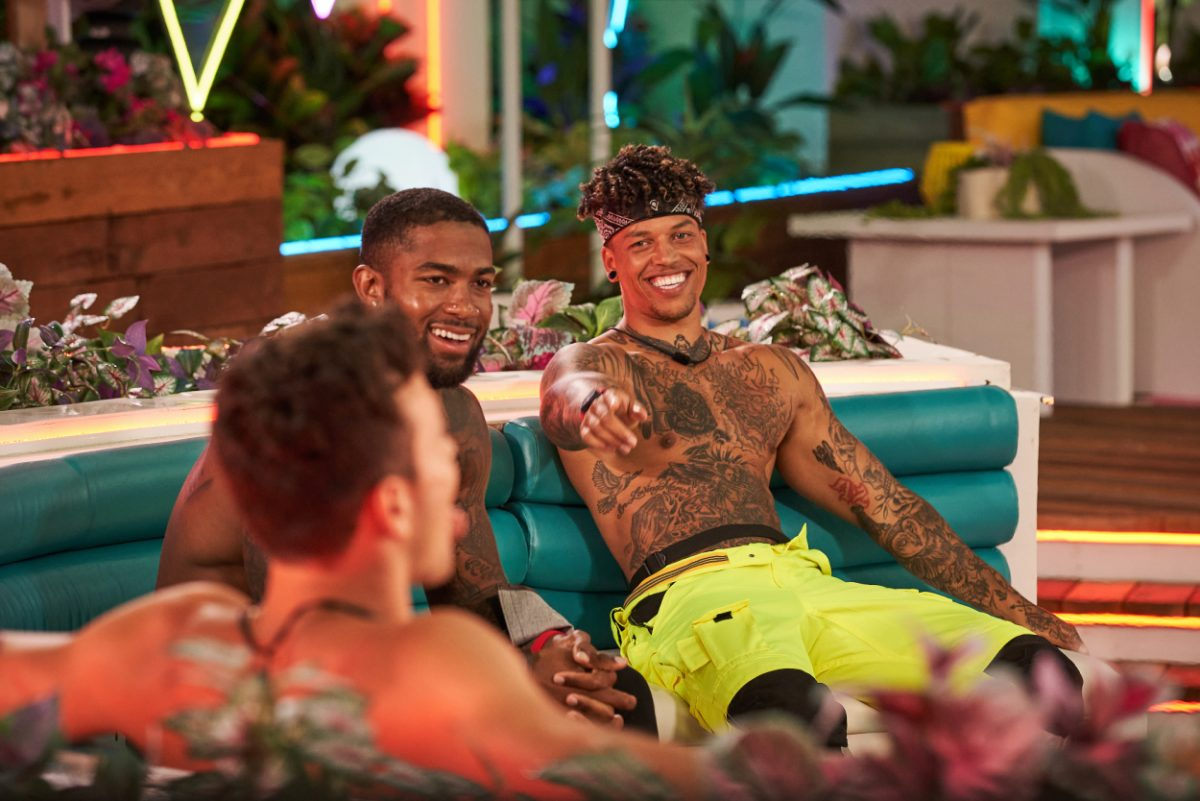 Will Moncada, Charlie Lynch and Korey Gandy on the nineteenth episode of Love Island