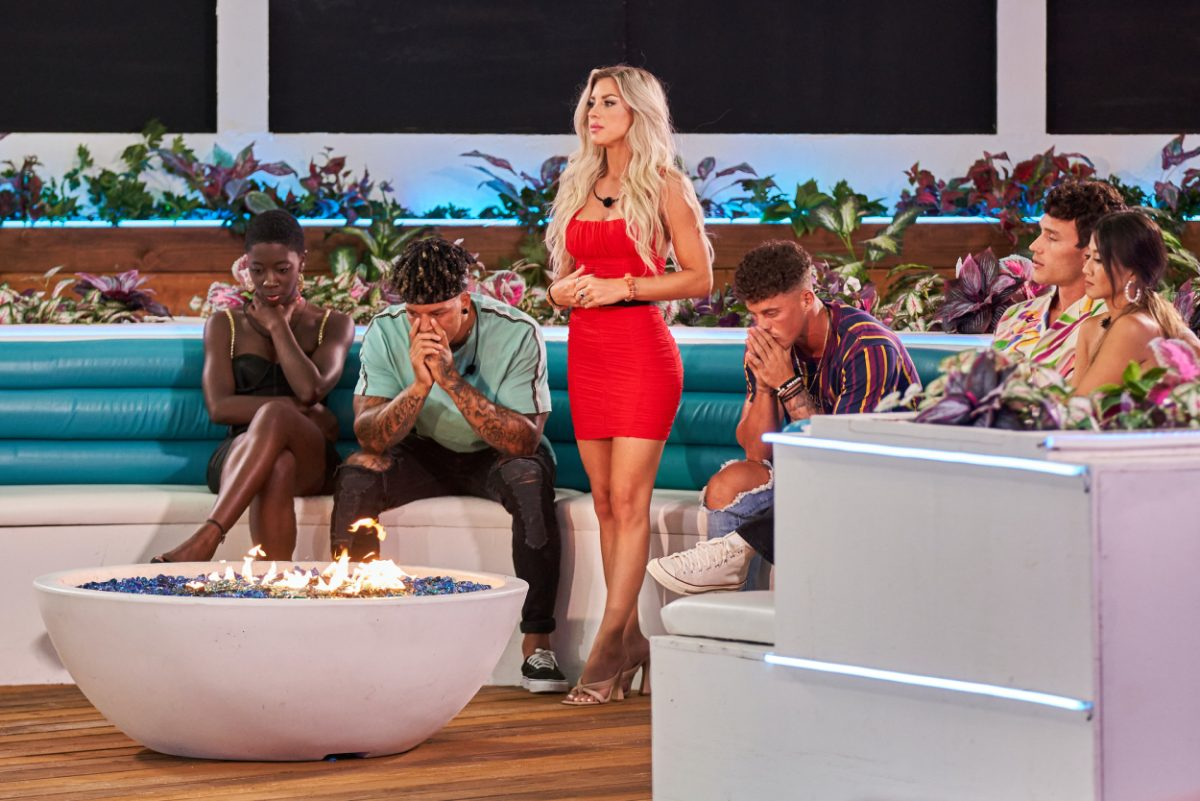 Cashay Proudfoot, Korey Gandy, Shannon St. Clair, Josh Goldstein, Will Moncada and Kyra Lizam on the twelfth episode of 'Love Island'