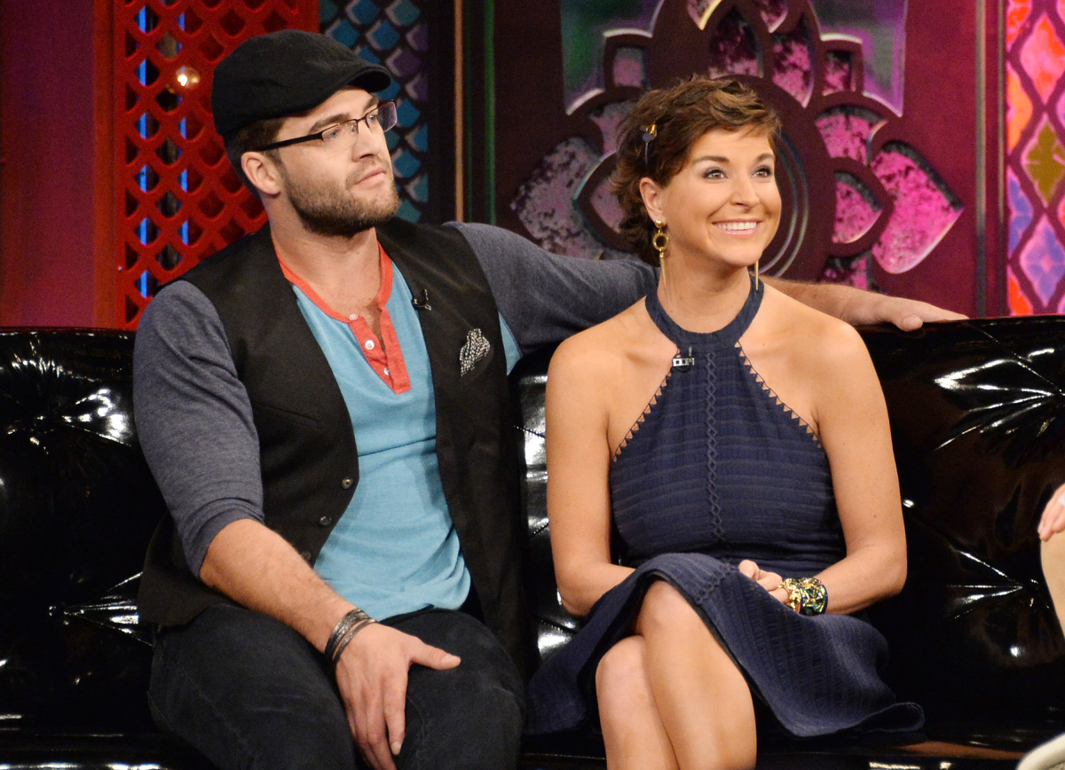 """TV personalities Chris """"CT"""" Tamburello and Diem Brown appear on MTV's """"The Challenge: Rivals II"""" final episode and reunion party at Chelsea Studio on September 25, 2013 in New York City"""