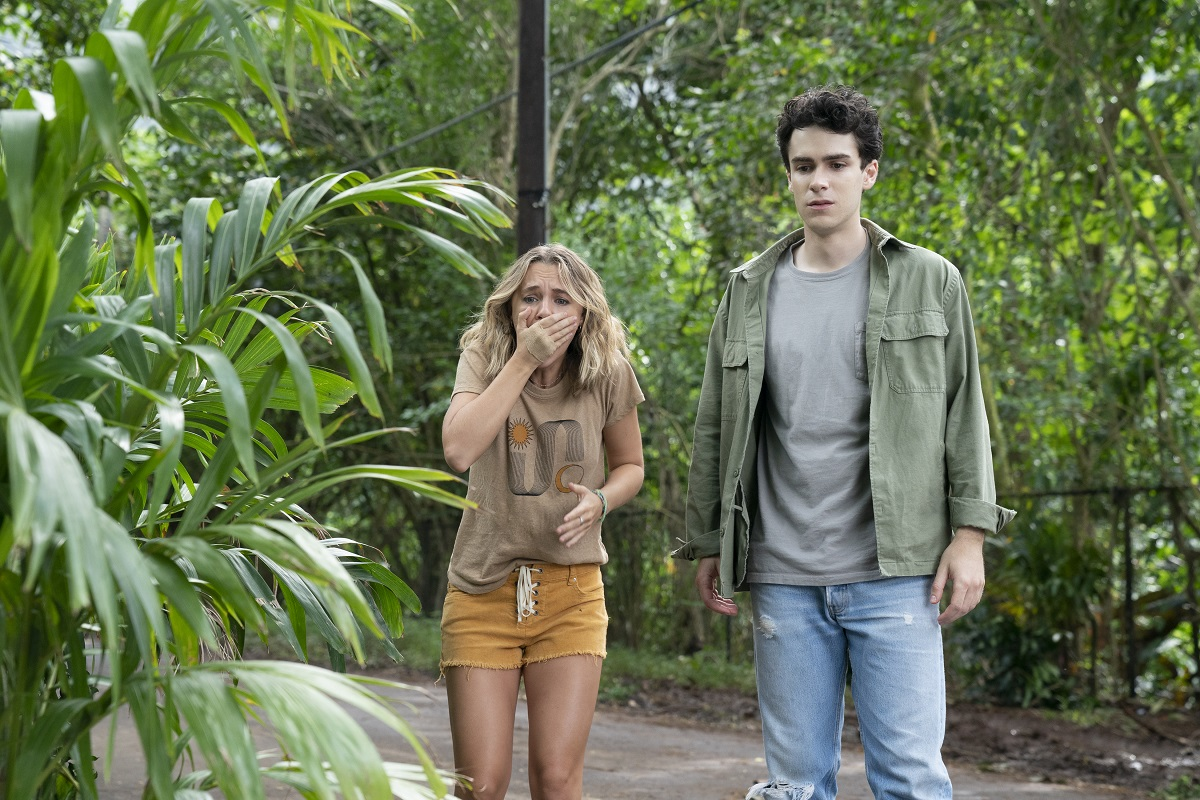 Madison Iseman and Ezekiel Goodman looked shocked in 'I Know What You Did Last Summer'