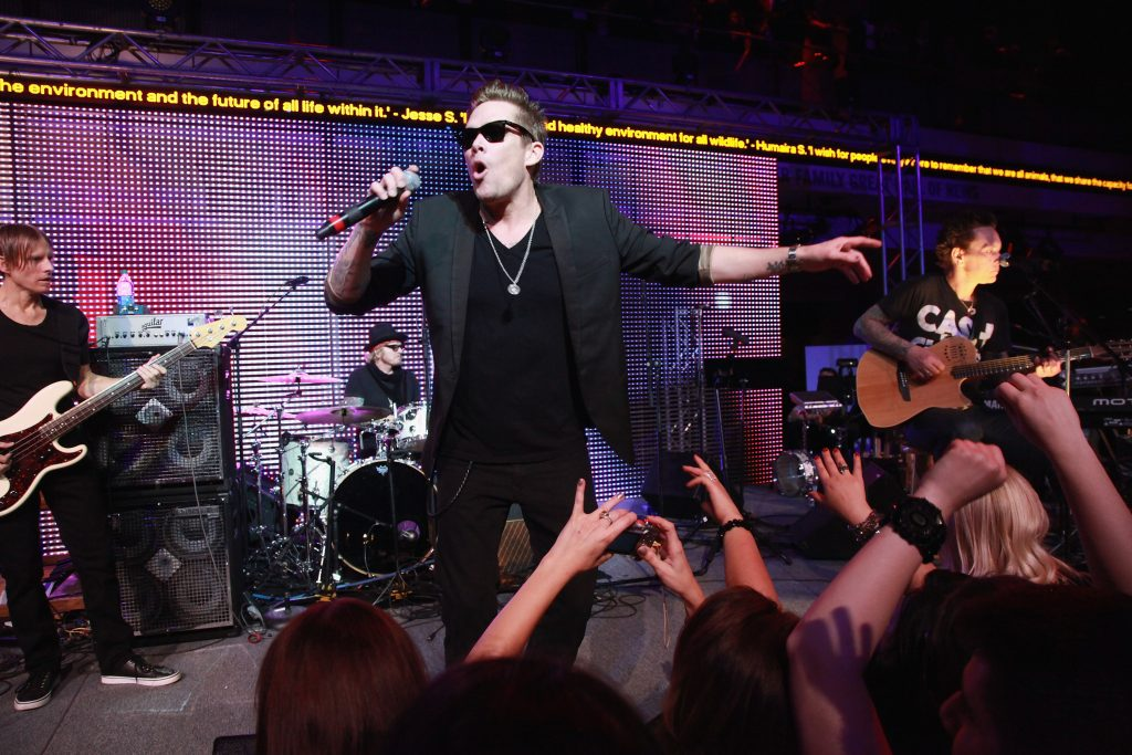 Mark McGrath performs with Camp Freddy