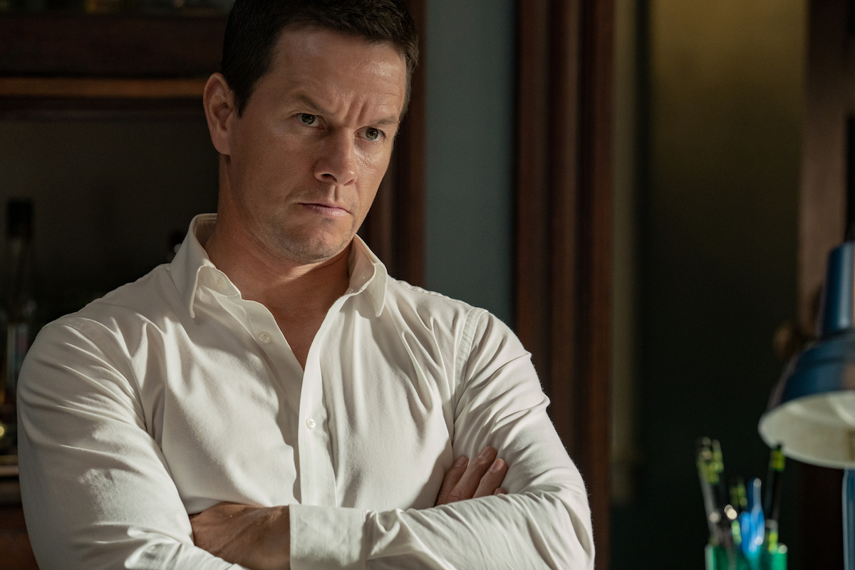 Mark Wahlberg with his arms crossed in 'Spenser Confidential'