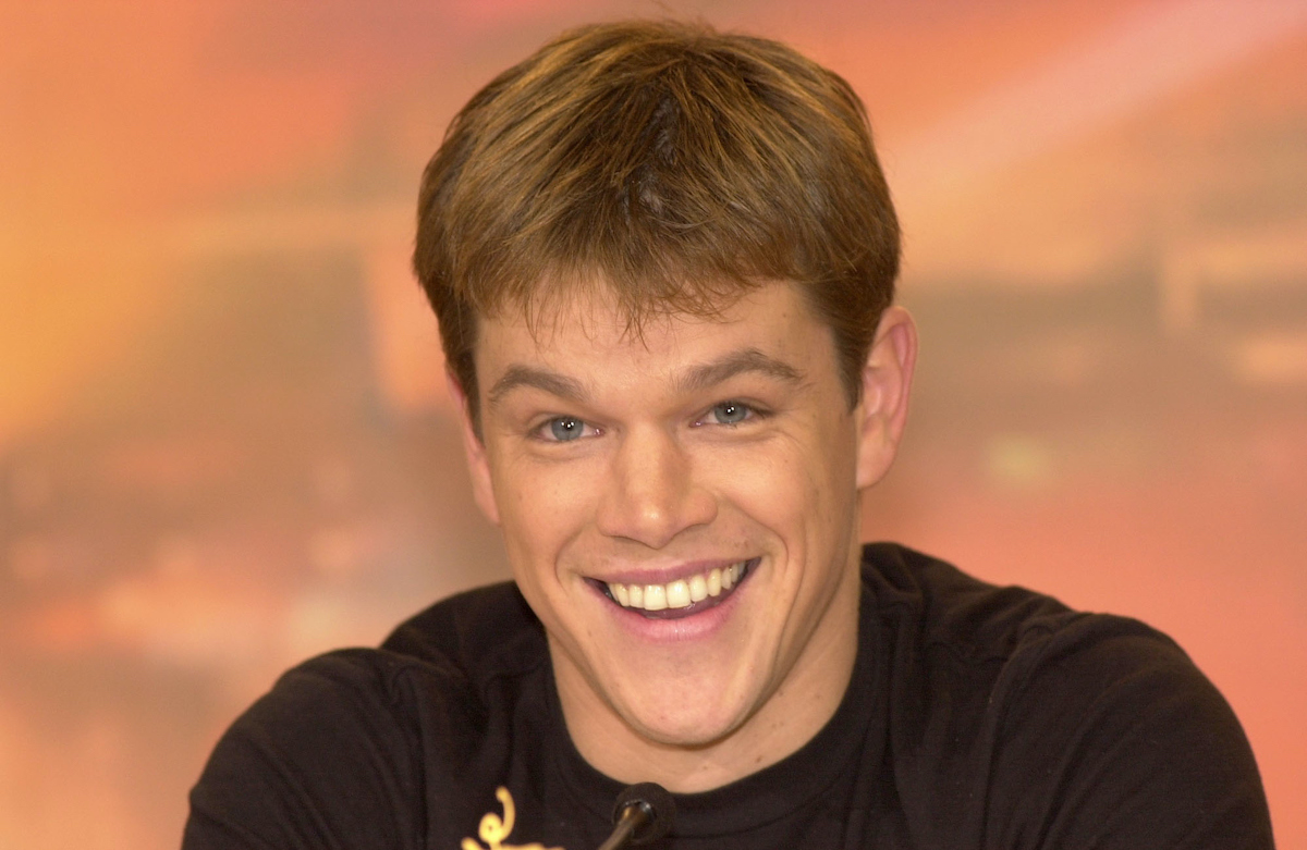 Matt Damon at the press conference for Anthony Minghella's film, 'The Talented Mr Ripley'.