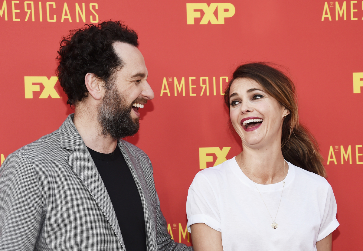 """Matthew Rhys and Keri Russell arrive at the For Your Consideration Red Carpet Event for the series finale of FX's """"The Americans"""" at the Saban Media Center on May 30, 2018, in North Hollywood, California"""