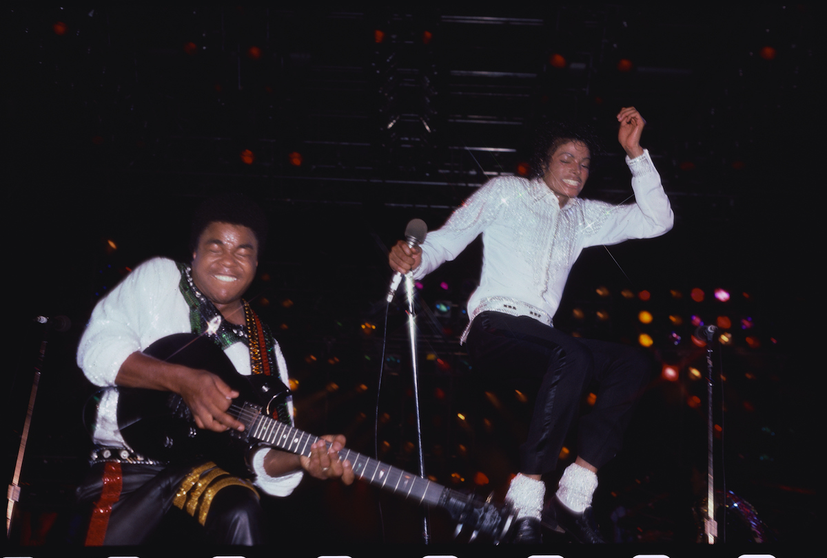 Tito Jackson and Michael Jackson performed during The Jackson Five's 1984 Victory Tour