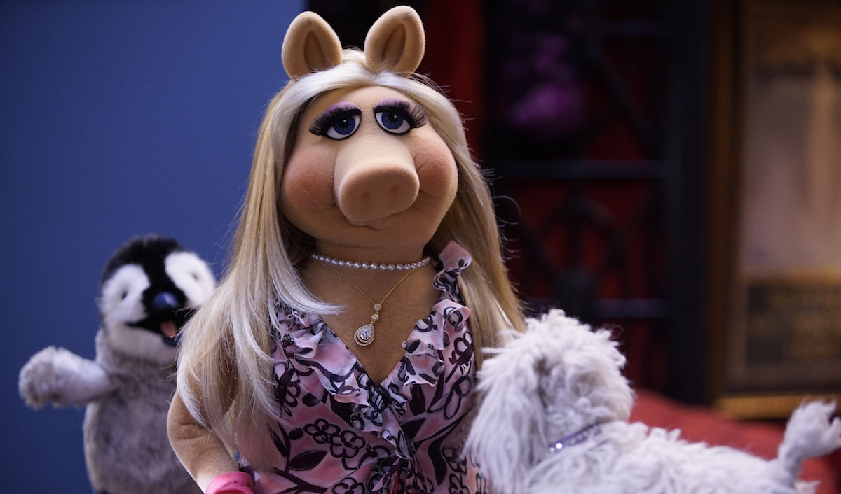 Miss Piggy with stuffed animals