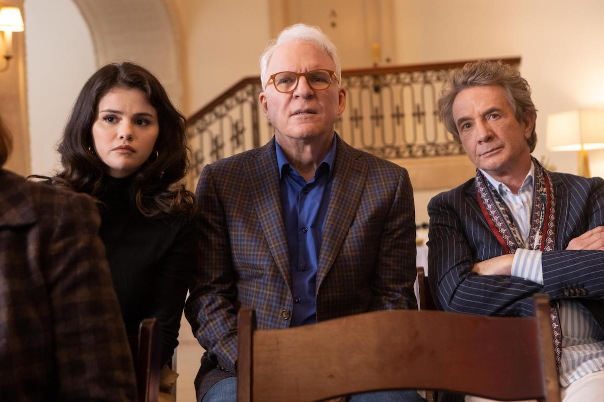 Selena Gomez, Steven Martin, and Martin Short in 'Only Murders in the Building'