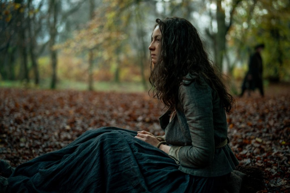 Outlander Caitriona Balfe as Claire Fraser in an image from the Starz hit