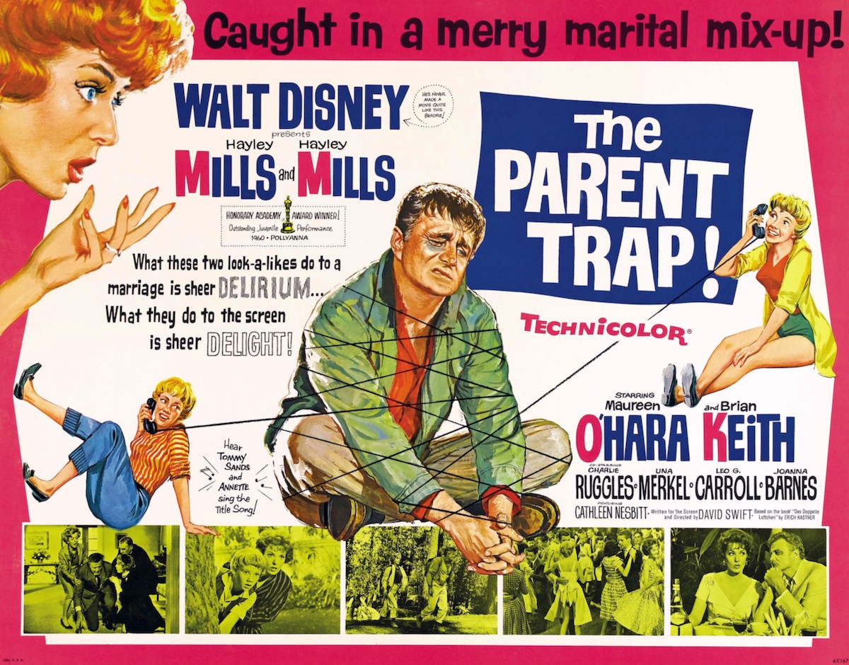 A Disney poster for 'The Parent Trap' 1961
