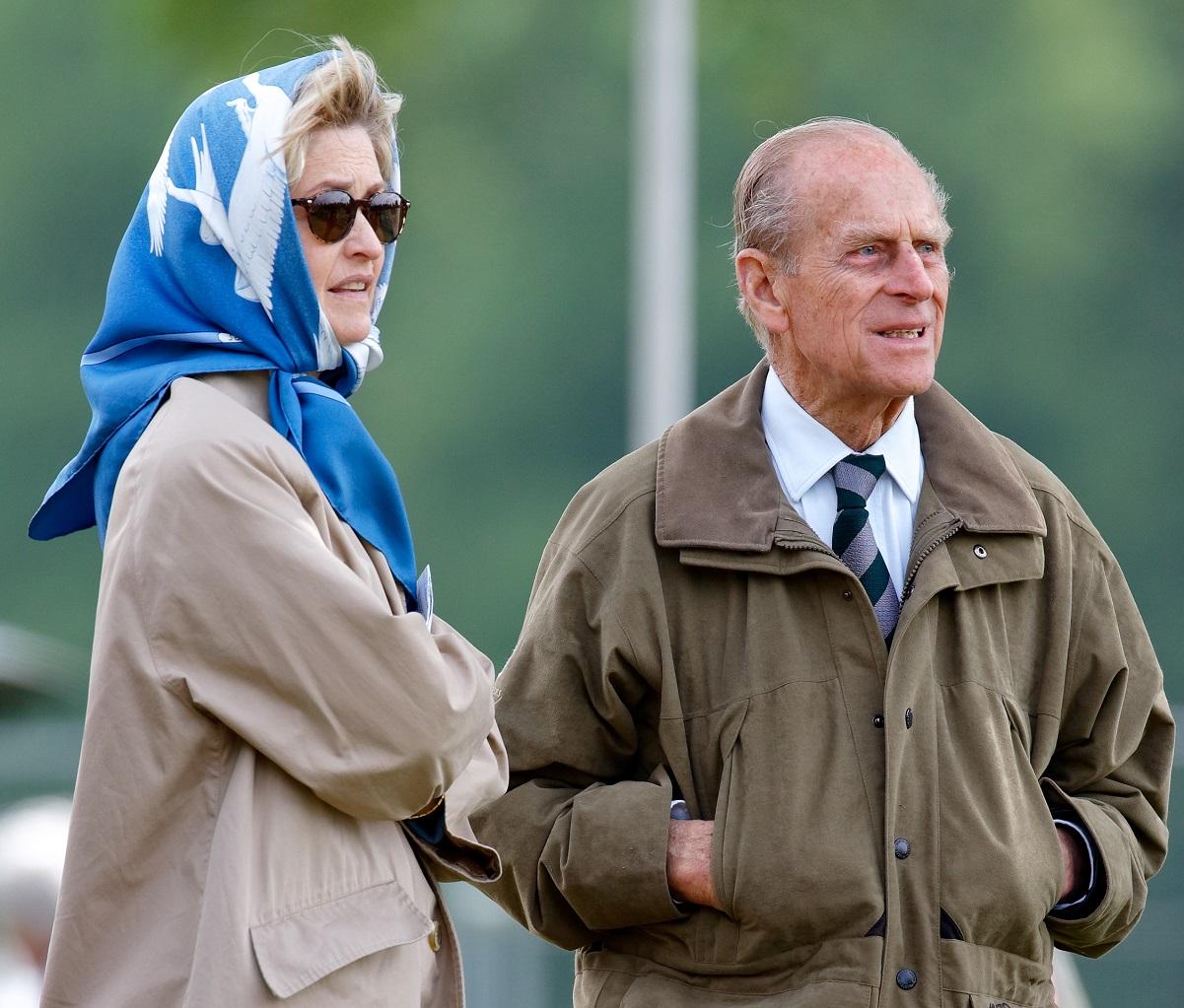 Penelope Knatchbull, Lady Brabourne and Prince Philip, Duke of Edinburgh attend the Royal Windsor Horse Show together