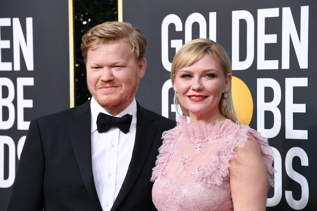 Jesse Plemons and Kirsten Dunst attend the 77th Annual Golden Globe Awards. They star together as husband and wife in 'The Power of the Dog'