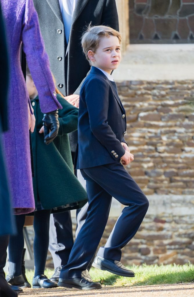Prince George dressed in a suit for Christmas Day Church service